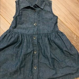 Baby girl denim dress excellent condition 💙